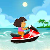 Little Dora Jetski Ride