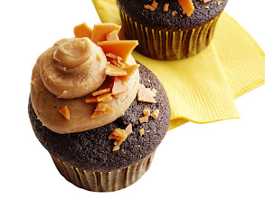 Photo: Get the recipe for Chocolate-Peanut Brittle Cupcakes >> http://ow.ly/hXHQC