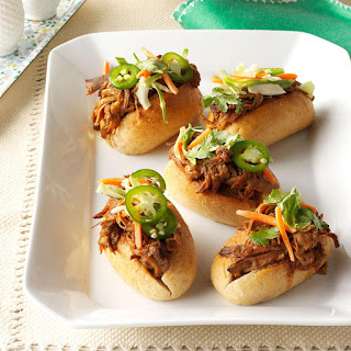Asian Pulled Pork Sandwiches.