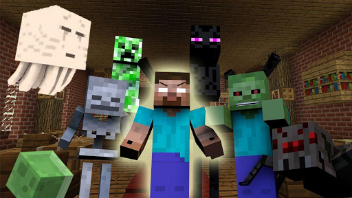 Herobrine Monster School Mod for Minecraft PE screenshot 1