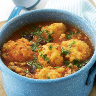 Mexican Bean Soup with Polenta Dumplings.