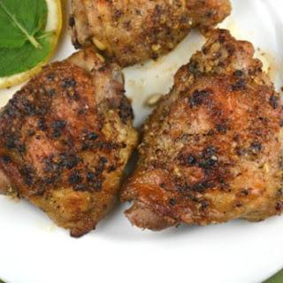 Garlic Chicken Thighs.