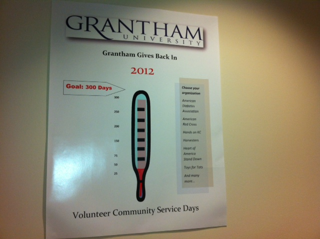 Photo: Grantham University is looking to give back to the community in 2012!