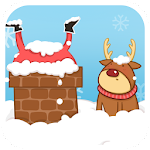 Red Christmas Reindeer LWP Icon