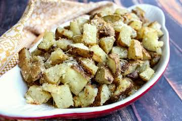 Oven Roasted Potatoes With Olive Oil & Rosemary