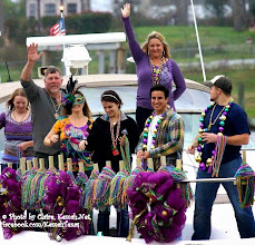 Photo: On Saturday, March 1, 2014  Enjoy a shower of BEADS, BEADS, and more BEADS because at 7 pm the WAY COOL YACHTY GRAS BOAT PARADE floats by the Kemah Boardwalk with decorated boats with more beads for you to catch! No charge to watch Yachty Gras from the Kemah Boardwalk. © Photo by Claire, Kemah.Net, facebook.com/KemahTexas