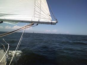 Photo: 遠くに停泊している海王丸が見えてきました