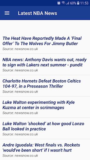 Latest NBA News 1.0 screenshots 2