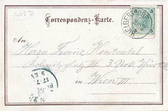 Photo: poštovní korespondence z roku 1900