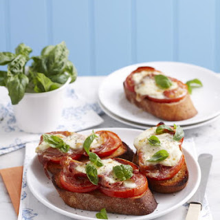 Open Faced Prosciutto and Mozzarella Sandwiches