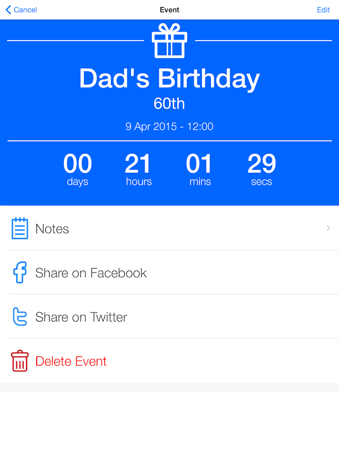Free Countdown Facebook Clock