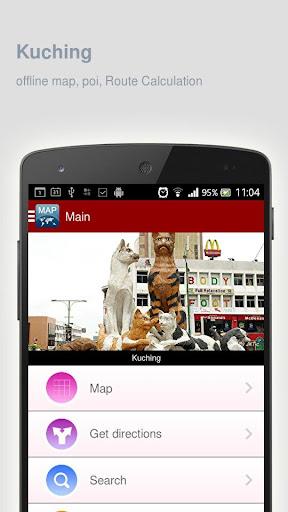玩旅遊App|Kuching Map offline免費|APP試玩