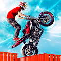Dirt Bike Roof Top Racing Motocross ATV race games icon