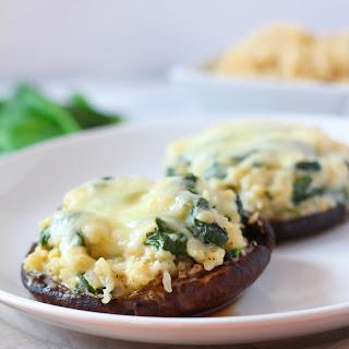 Creamy Spinach & Rice Stuffed Portobellos