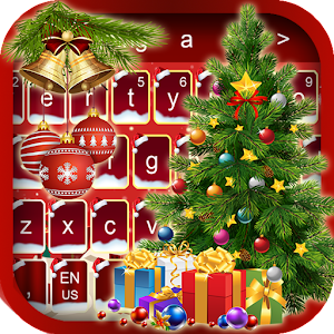 Free Merry Christmas Keyboard Theme 2018