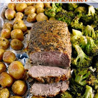 Sheet Pan Tuscan Pork Dinner.