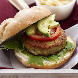 Avocado Chicken Burgers.