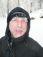Photo: Begleiter Erwin am wilden Arber-Sturm