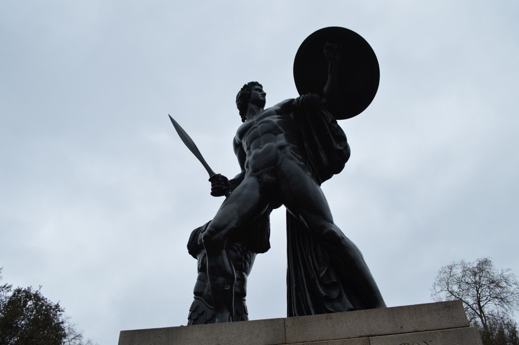 A statue of Achilles in London, UK