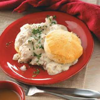 Home-Style Sausage Gravy and Biscuits.