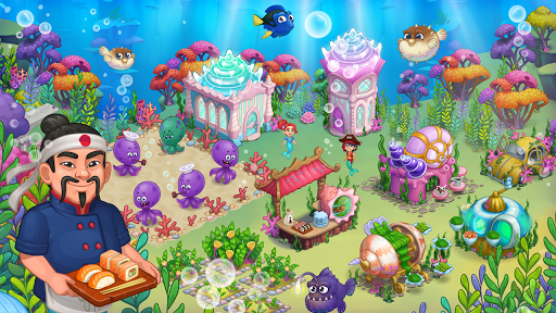 Aquarium Farm: fish town, Mermaid love story shark  screenshots 22