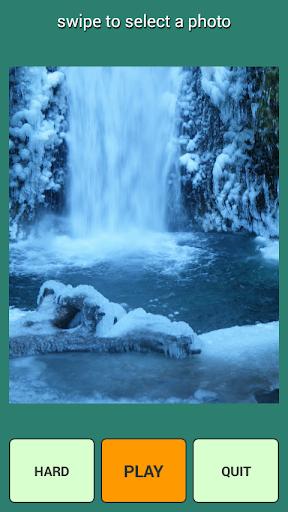冬の滝のパズル
