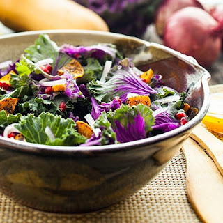 Squash, Pomegranate, & Kale Salad