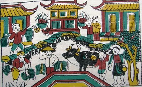 Làng tranh Đông Hồ đậm văn hóa dân gian 2
