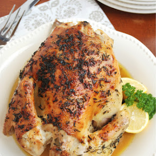 Lemon Herb Roasted Chicken with White Wine