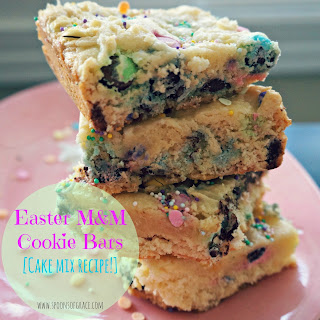 Easter M&M Cookie Bars