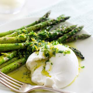 Quick Roasted Asparagus with Burrata and Gremolata