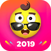 Fancy Launcher - Funny Emojis & Stickers, Themes Icon