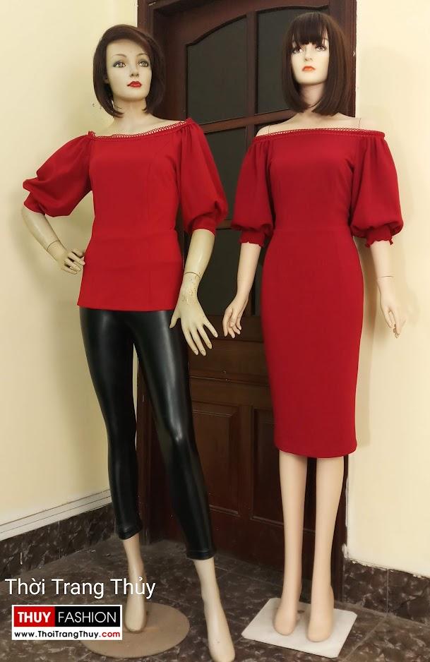 Váy áo tay bồng nữ tính và quyến rũ V669 tại hạ nội