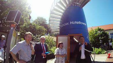 Photo: bboxx Hoteltower-Einweihung mit Frank-Walter Steinmeier in Wiesenburg (Mark)