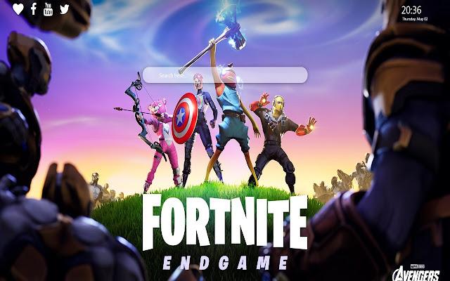 Fortnite Avengers Endgame Wallpaper New Tab