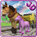 Pony Horse Carriage Transport icon