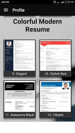 Free resume builder CV maker templates PDF formats 7.8 screenshots 5