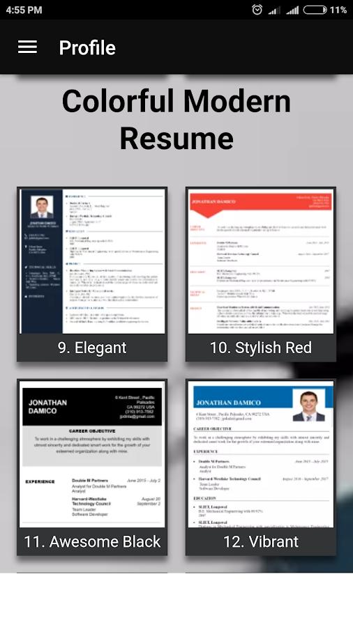 free resume builder pdf formats cv maker templates screenshot - Resume Builder Pdf