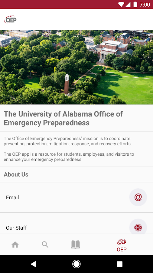 UA Safety- screenshot