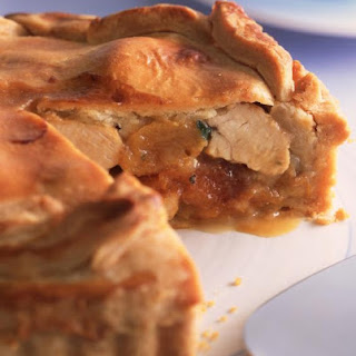 Chicken, Apricot, and Onion Pie.
