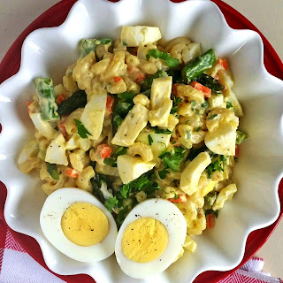 Asparagus & Chopped Egg Pasta Salad