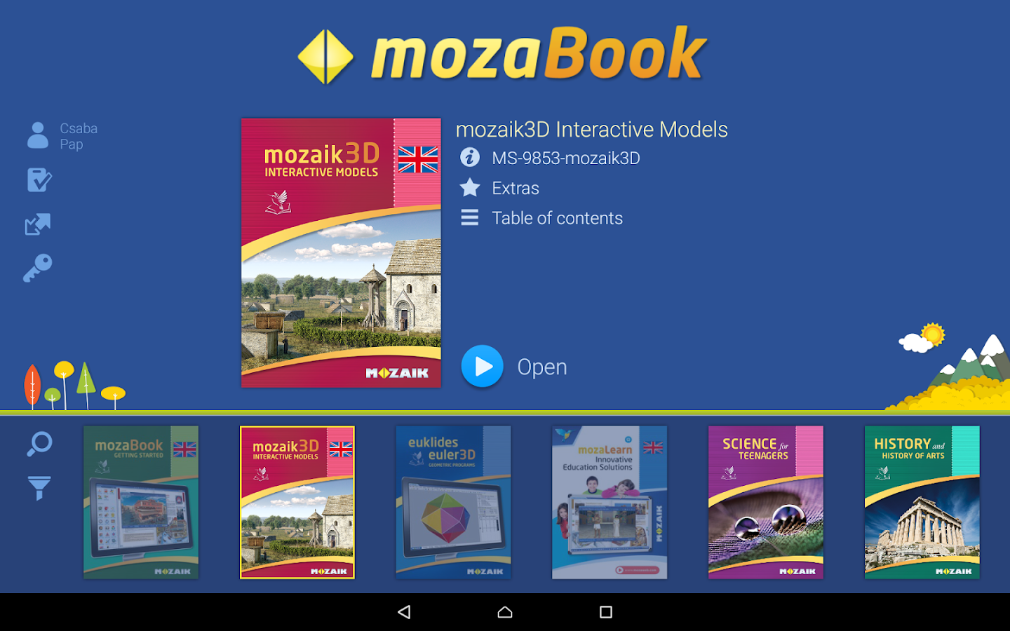 mozaBook- screenshot