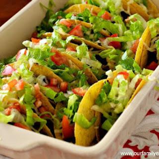 Gluten Free Crunchy Baked Tacos
