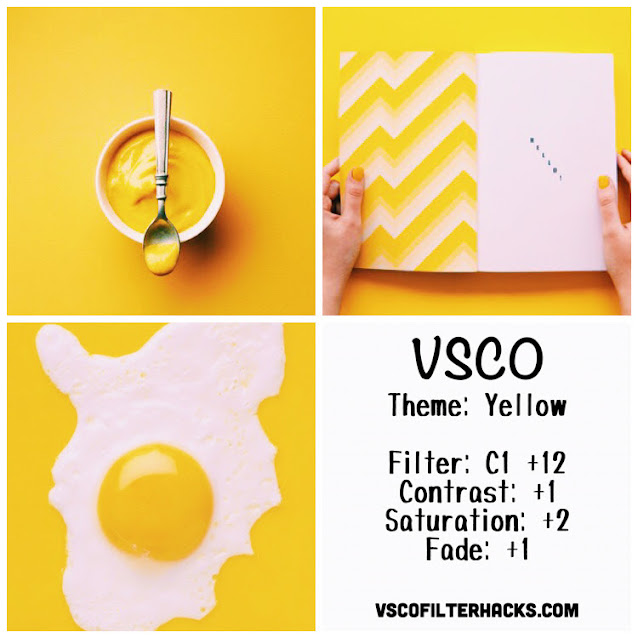 Yellow Instagram Feed Using VSCO Filter C1
