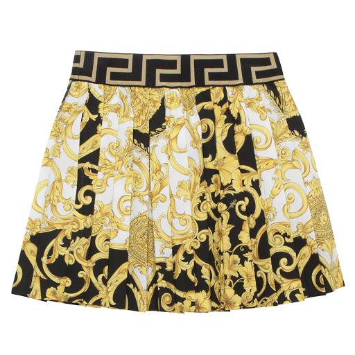 Thumbnail images of Young Versace Cotton Baroque Skirt