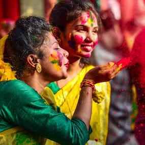 by Anuruddha Das - People Portraits of Women ( color, kolkata, india, festival, holi,  )