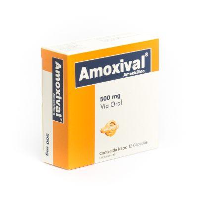 Amoxicilina Amoxival 500 mg  x 12 Tabletas