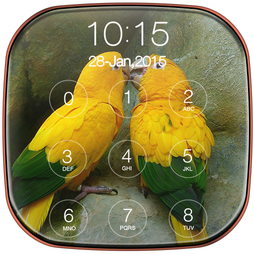 Bird Keypad Lock Screen