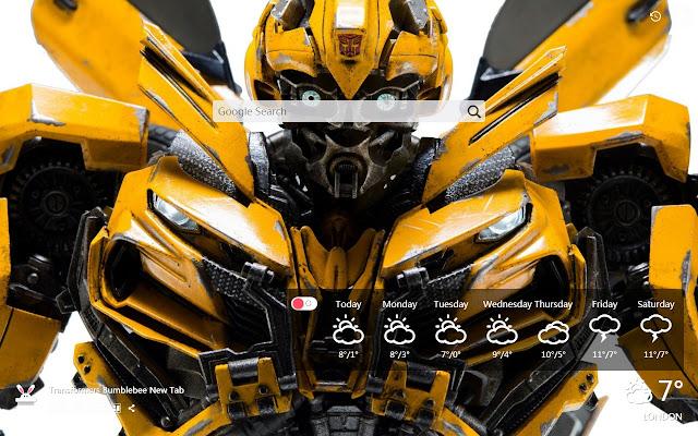 Transformers Bumblebee New Tab, Wallpapers HD