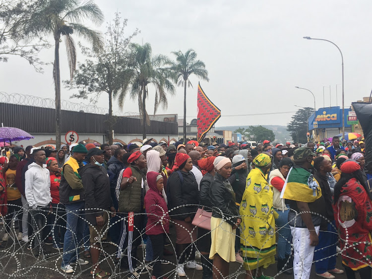 Despite the grey weather, the community came out in full force in solidarity for the victims.
